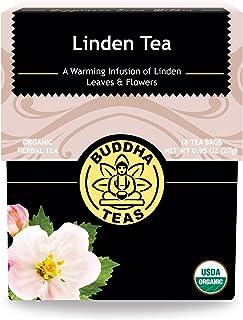 Organic Linden Tea – 18 Bleach-Free Tea Bags – Caffeine-Free Tea, Fresh and Fragrant Herbal Tea with Calming Qualities, Good Source of Nutrients, Vitamins, and Antioxidants, Kosher, GMO-Free