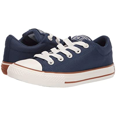 Converse Kids Chuck Taylor All Star Street Pinstripe Slip (Little Kid/Big Kid) (Navy/Gum/Egret) Boys Shoes