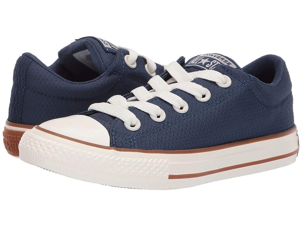 Converse Kids Chuck Taylor All Star Street Pinstripe Slip (Little Kid/Big Kid) (Navy/Gum/Egret) Boys Shoes