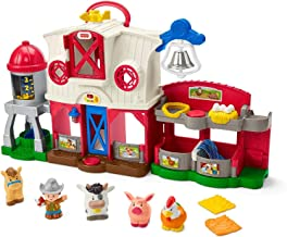 Fisher-Price Little People Caring for Animals Farm Playset with Smart Stages Learning Content for Toddlers and Preschool Kids