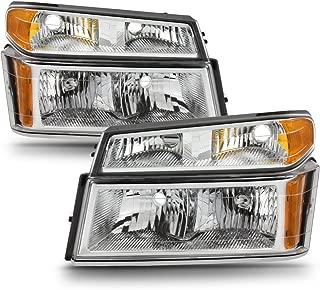 ACANII - For 2004-2012 Chevy Colorado GMC Canyon Headlights w/Corner Lights Parking Lamps [4PC Set] Driver + Passenger