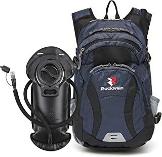 ROCKRAIN Hydration Backpack, WindSeeker Insulation Hydration Pack with 2.5L BPA Free Leak Proof Water Bladder, Sufficient Storage Space for Outdoor Gear, Perfect for Cycling Hiking Running Skiing