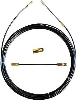 STAK SYB4-005 Guía pasacables de nylon, negra, Ø 4 mm, 5 metros, con terminales fijos