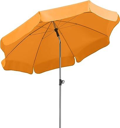 Schneider 715-02 Lugano太阳伞,圆形 200 cm 橙色 716-75