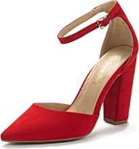 DREAM PAIRS Women's Coco Pointed Toe High Heels Pump Shoes