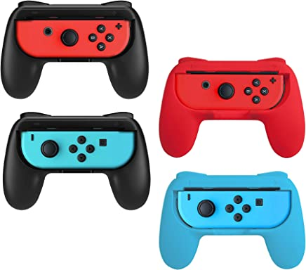 Beastron Joy Con Grips Compatible with Nintendo Switch, Handle Kit for Nintendo Game Switch Joy Con Controller 4 Pack