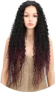 crack of dawn Heat Resistant Synthetic Wigs For Women Natural Long Kinky Curly 30