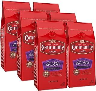 Community Coffee MARDI Gras King Cake Flavored Medium Roast - Premium Ground Coffee - 12 Ounce  Bag (Pack Of 6), MARDI Gras King Cake, 72 Ounce, 72 Ounce (Pack of 1)