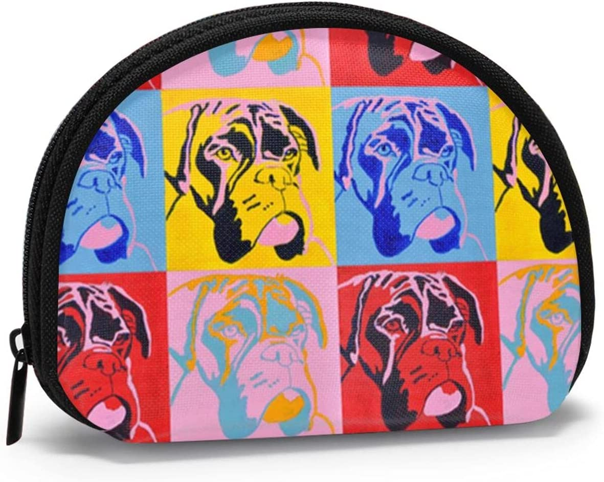 Women Change Coin Purse Boxer Dog Shell Max 77% OFF Max 61% OFF Girl Storage Lover Gift