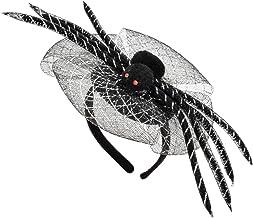 Black JIALWEN Halloween Spider Web Hair Hoop Cosplay Masquerade Spider Headband Costume Accessory