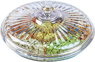Yesland 12-3/8 Inches Snack Serving Tray Set with Lid, Acrylic Appetizers/Food Tray with 6 Sections for Parties, Holidays,...