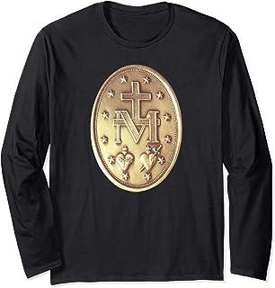 Médaille Miraculeuse Médaillon Catholique Manche Longue