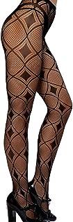 Womens Wide Fishnet Rhinestone Net Tights//Fencenet Diamond Netted Christmas Xmas Pantyhose