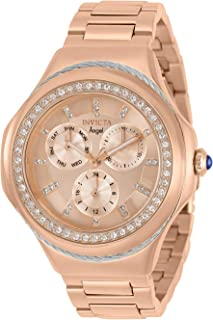 Invicta Women's Angel Quartz Watch with Stainless Steel Strap, Rose Gold, 20 (Model: 31088)