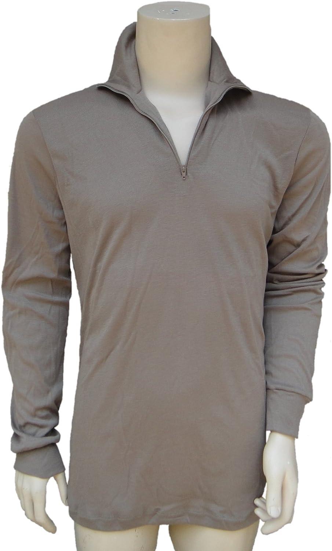 LIghtweight Thermal Moisture-Wicking Long-Sleeve Undershirt, Genuine US Military Level 1 LWCW, Coyote Brown, Size Medium, NSN 8415-01-415-5906