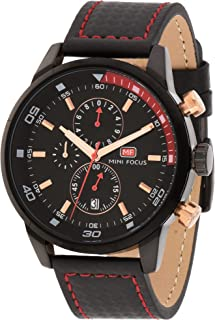 Mini Focus Mens Quartz Watch, Chronograph Display and Leather Strap - MF0017G.01