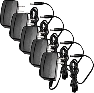 R-Tech DC12V 1A UL-Listed Switching Power Supply Adapter for CCTV - 5 Pack - Black