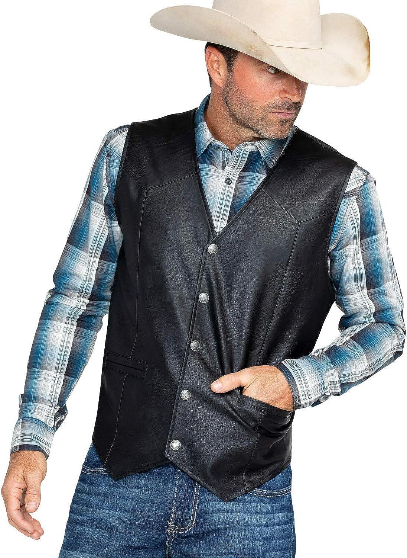 Cody James Men's Deadwood Vest Black