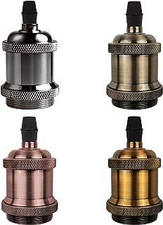 soporte para bombilla con interruptor de encendido//apagado 72mm*34mm Antique Brass rosca Edison Portal/ámparas vintage de lat/ón E27