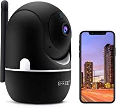 Wireless Security Camera,GEREE 1080P HD Home Security Camera [2020 Latest Upgrade] Indoor Camera WiFi Pet Camera for Home/...