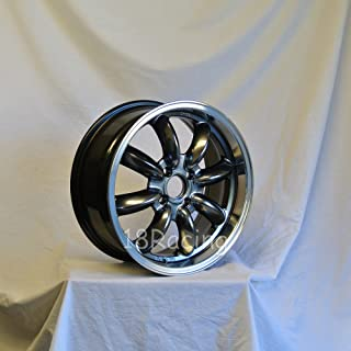 1 PC ONLY ROTA RB WHEELS 16X7 PCD:4X100 OFFSET: 40 HB:56.1 HYPERBLK WITH POLISH LIP