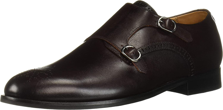 MARC JOSEPH NEW YORK mens Mens Genuine Leather Double Monk Wingtip Dress Shoe