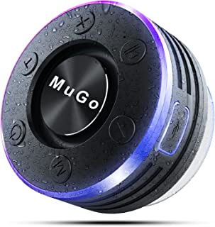 MuGo Bluetooth Speaker, Wireless Speaker with Suction Cup, IP7 Waterproof Portable Bluetooth Speakers for Shower, Mini Out...