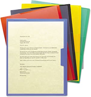 Smead Inndura Poly Project Jackets, Letter Size, Assorted Colors, Pack of 5