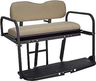 Gusto EZGO TXT Golf Cart Flip Folding Rear Back Seat Kit - Tan