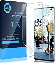 LK 3 Pack Screen Protector Compatible for Samsung Galaxy S10, Ultrasonic Fingerprint Compatible - Easy Installation Flexib...