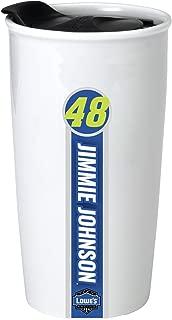 NASCAR #48 Jimmie Johnson Double Wall Ceramic Tumbler-NASCAR Travel Mug