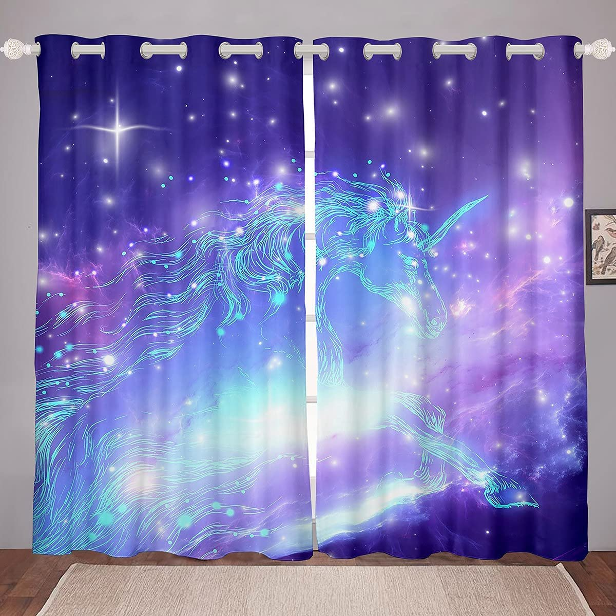 Unicorn Window 国内正規総代理店アイテム Curtains Space 早割クーポン Psychedelic