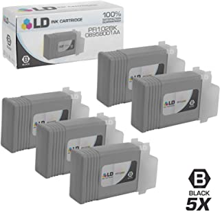 LD Compatible Ink Cartridge Replacement for Canon PFI-102Bk 0895B001AA (Dye Black, 5-Pack)