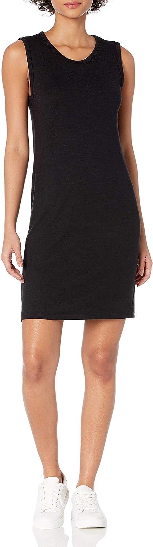 Amazon Brand - Daily Ritual Women's Cozy Knit Muscle Sleeve Dress