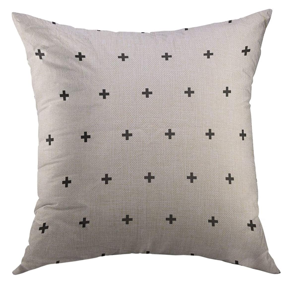 Mugod Pillow Cover White Plus Crosses Cross Swiss Sign Symbol Scandinavian Home Decorative Throw Pillow Cushion Cover 16x16 Inch Pillowcase