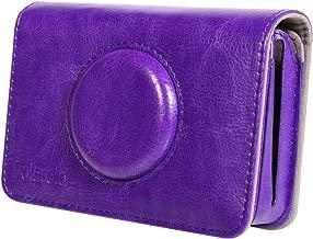 Polaroid Leatherette Case Snap Touch Instant Print Digital Camera – Custom Design for Snug Fit (Purple)