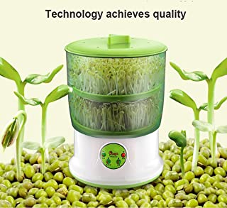 DOTSOG 110V Bean Sprouts Machine Food Grad PP Material Automatic Seed Sprouter Power-Off Memory Function Sprouter