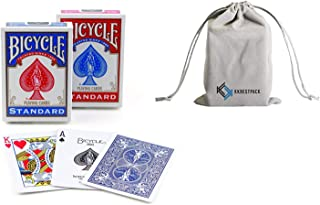 Bicycle Poker Size Standard Index Playing Cards Includes KKBESTPACK Travel Pouch