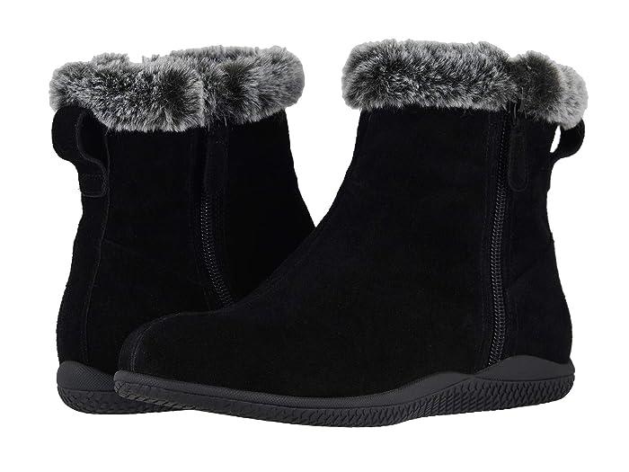 1950s Style Shoes | Heels, Flats, Saddle Shoes SoftWalk Helena Black Suede Womens Boots $139.95 AT vintagedancer.com