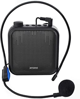 comprar comparacion Amplificador de Voz, Sistema de PA Recargable de 12 Vatios (1200 mAh) con Micrófono con Cable para Profesores, Guía Turíst...