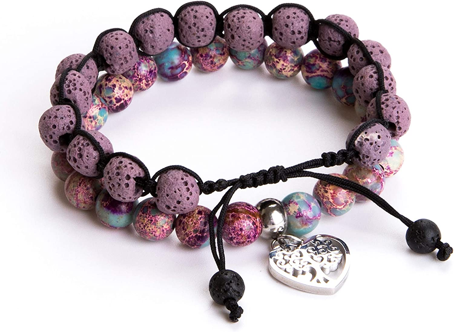 Tree of Life Bracelet - Lava Max 61% Manufacturer regenerated product OFF Stone Gemstone Oil Beaded Essential