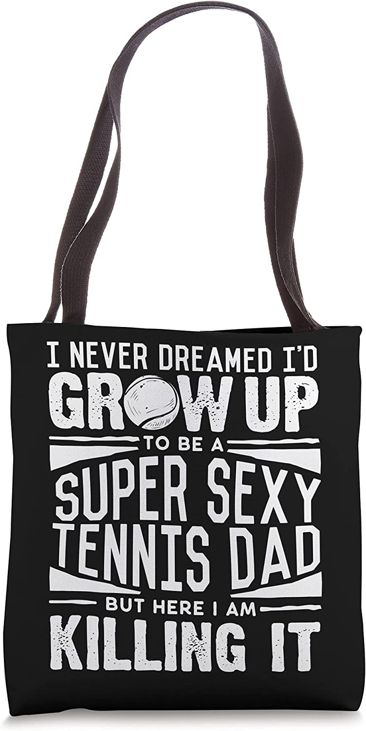 Tennis Player Dad Shirt Men Tennis Lover Fathers Day Tennis Tote Bag