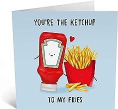 Central 23 - Bonita tarjeta de aniversario para ella - Tarjeta romántica para mujer - Diseño dulce - Tarjeta de amor - para marido, esposa, novio, novia - Viene con divertidos adhesivos