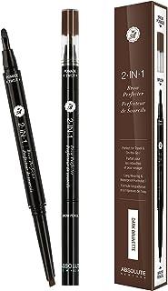 Absolute New York 2 In 1 Brow Perfecter, Dark Brunette, 18 gm
