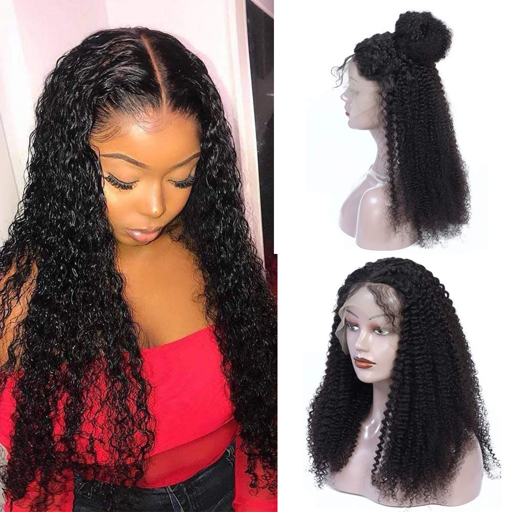 13x4 Curly Lace Front Wigs Year-end annual account Human t Pre Glueless 35% OFF plucked Ear Hair