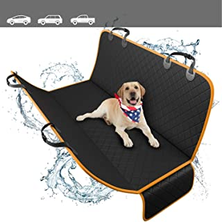 Mumoo Bear Dog Back Seat Cover Protector Waterproof Scratchproof Nonslip Hammock for Dogs, Black