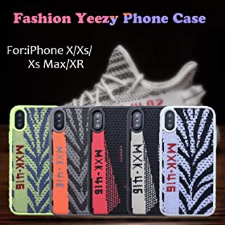 Fashion Sneakers Canvas Stripes Phone Case - Shock Absorbing Protective Sport Cover for iPhone 11 pro max XS MAX XR X 7 6 6s 8 Plus (Black, for iPhone 11 Pro Max)