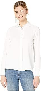 Lacoste Women's Long Sleeve Basic Button Down Tunic Shirt