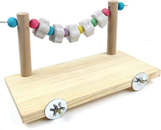Hypeety Wooden Bird Perch Platform Pet Natural Chewing Toys Health Cage Accessories for Mouse, Chinchilla, Rat, Gerbil, Guinea-pigs, Dwarf Hamster