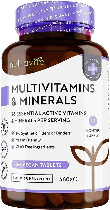 Multivitaminico e minerali - 365 compresse vegane (fornitura di 1 anno) VM38S